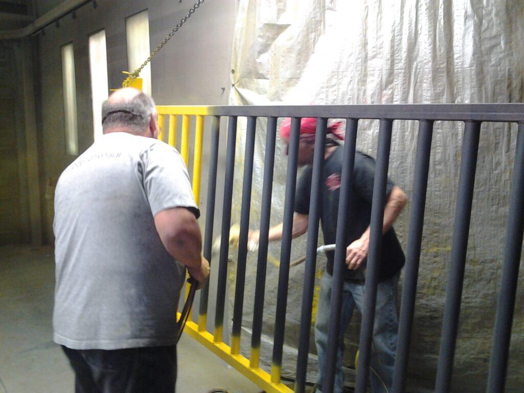 Powder Coating a gate